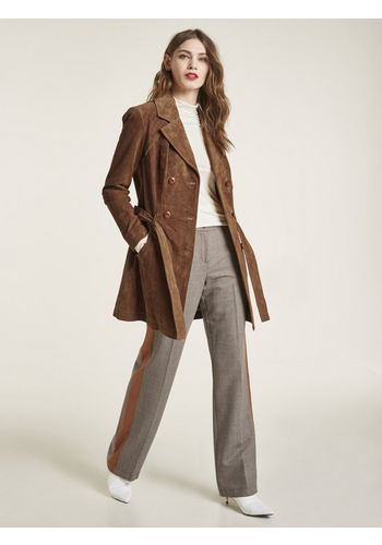 Пальто из кожи и кожезаменителя heine