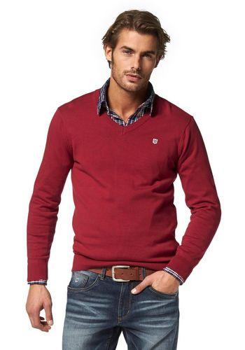 Пуловер с V-воротником Rhode Island