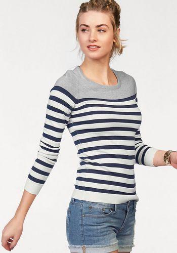 Пуловер в полоску AJC