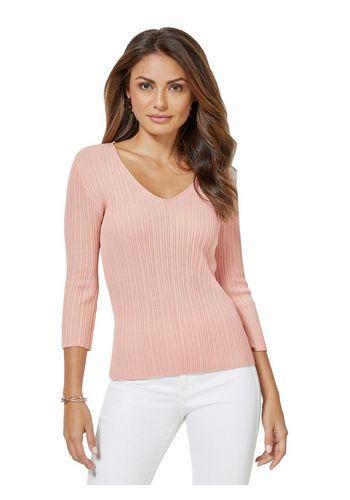 Пуловер с V-образным воротом creation L