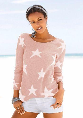 Пуловер с круглым воротом LASCANA