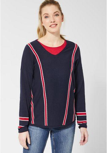 Пуловер с V-образным воротом Cecil