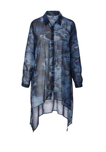 Удлиненная блузка Sara Lindholm by Happy Size