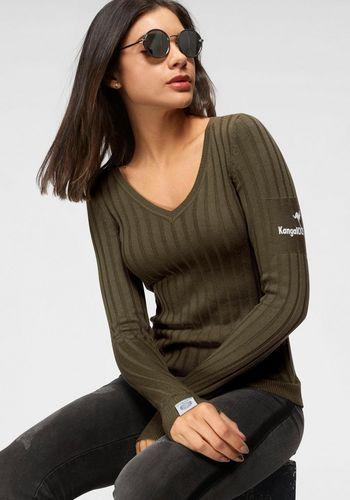 Пуловер с V-образным воротом KangaROOS