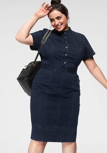 Джинсовое платье GMK Curvy Collection