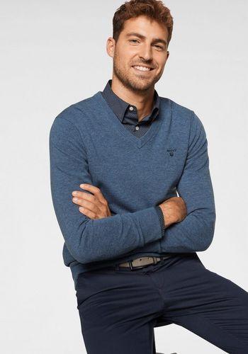 Пуловер с V-воротником Gant