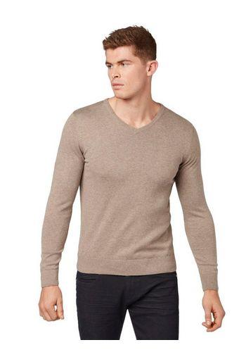 Пуловер с V-воротником TOM TAILOR