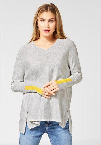 Пуловер с V-образным воротом STREET ONE