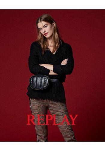 Пуловер с V-образным воротом Replay