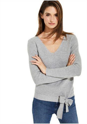 Пуловер с V-образным воротом Comma