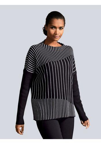 Пуловер в полоску Alba Moda