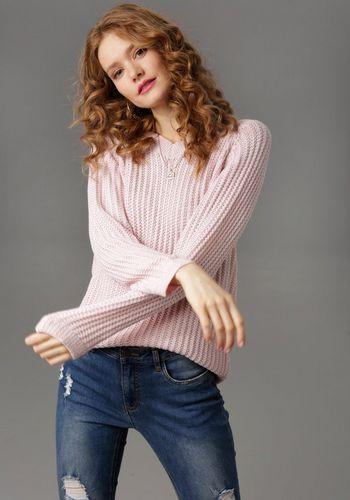 Пуловер с V-образным воротом Aniston CASUAL