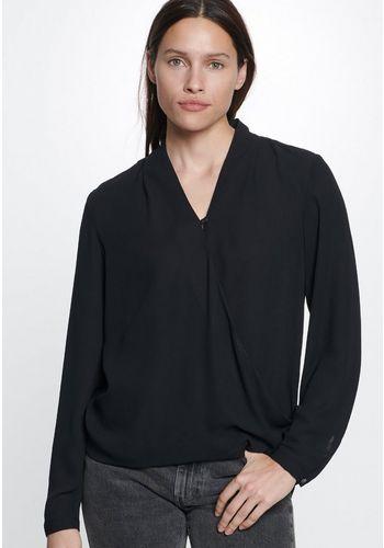 Блуза с запахом seidensticker