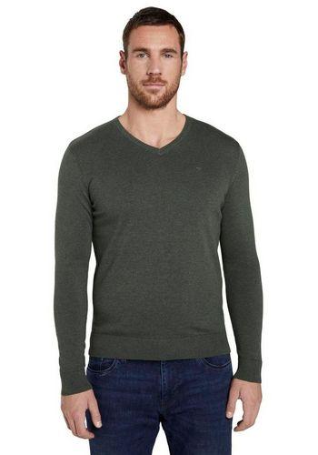 Пуловер с V-образным воротом TOM TAILOR