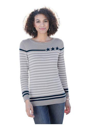 Пуловер в полоску Casual Looks
