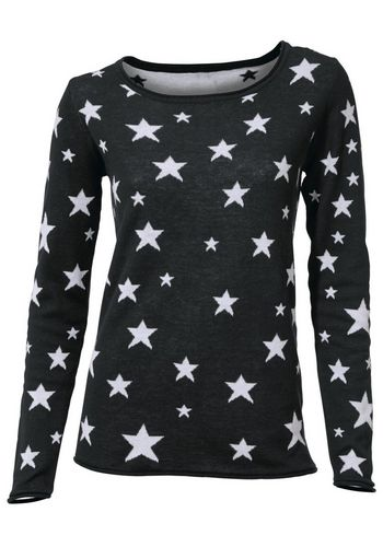 Пуловер с круглым воротом heine