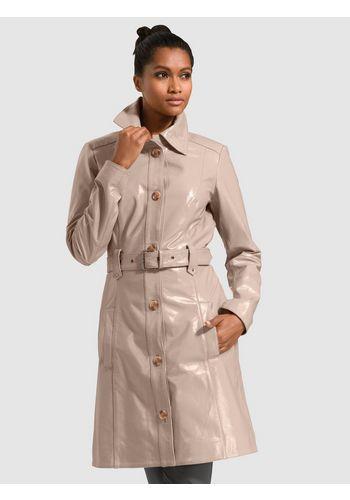 Пальто из кожи и кожезаменителя Alba Moda