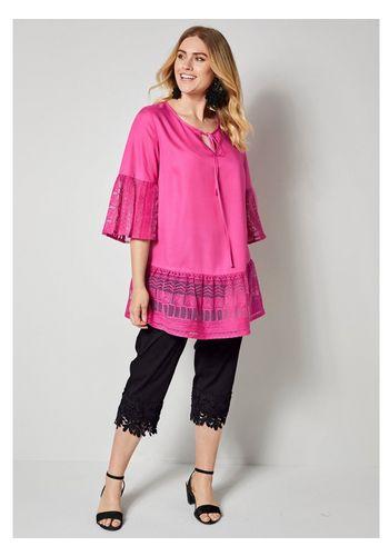 Кружевная блуза Sara Lindholm by Happy Size