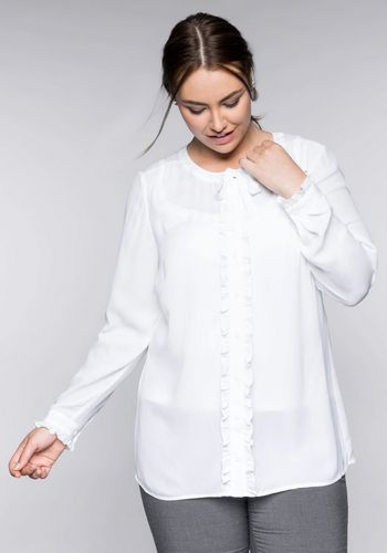 Блузка с рюшами Sheego