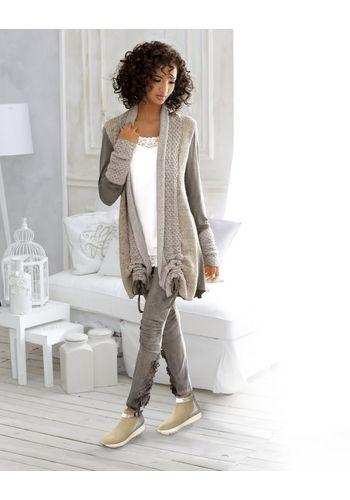 Удлиненный пуловер heine