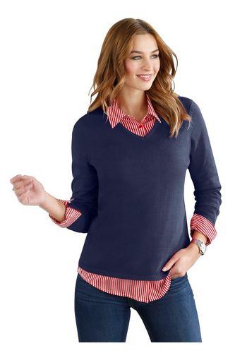 Пуловер с V-образным воротом Classic Basics